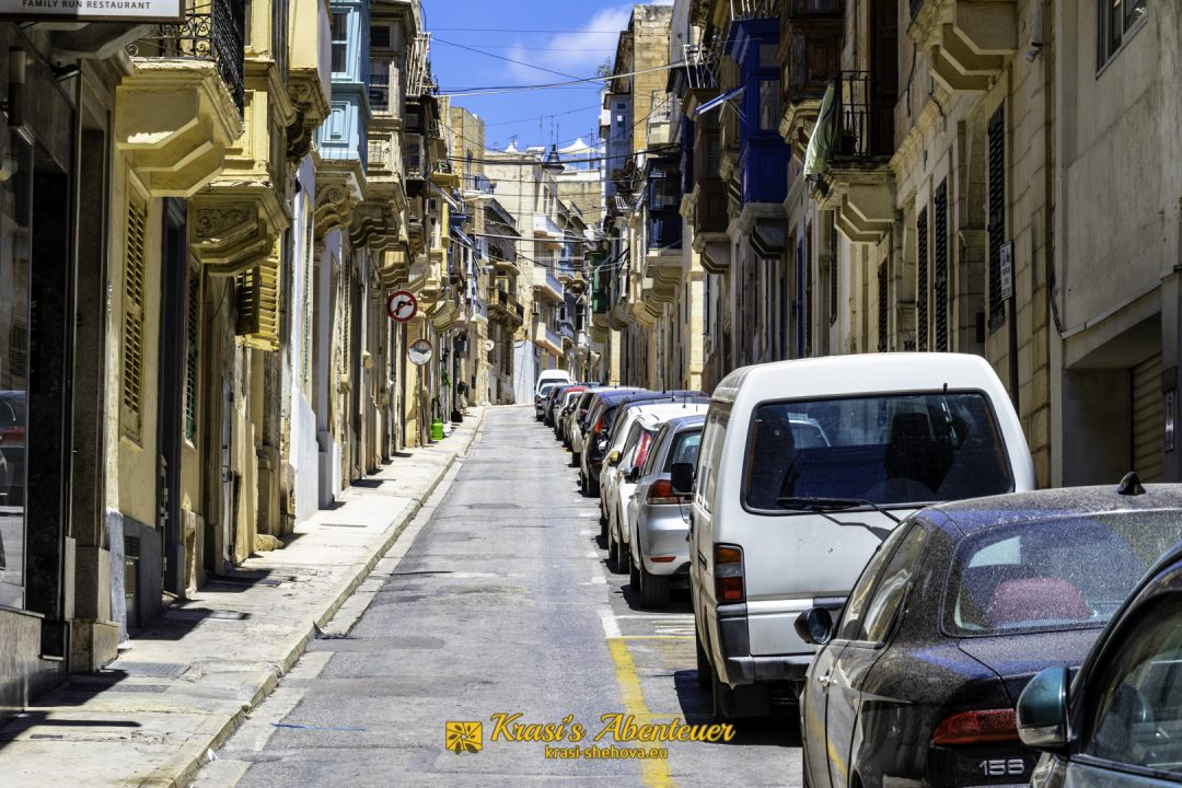 Steile Strasse in Malta / Стръмна улица в Малта