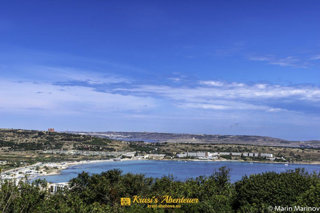 Изглед към един от плажовете / Aussicht zu einem Strand