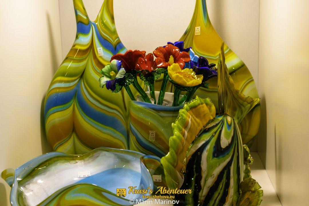 Glasblumen aus Mdina Glas / Стъклен букет от Мдина