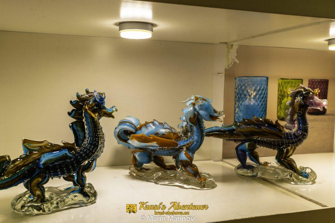 Drachen aus Mdina Glas / Дракони от стъкло в Мдина