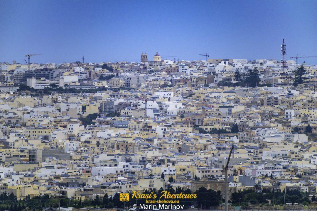 Aussicht von Mdina / Изглед от Мдина