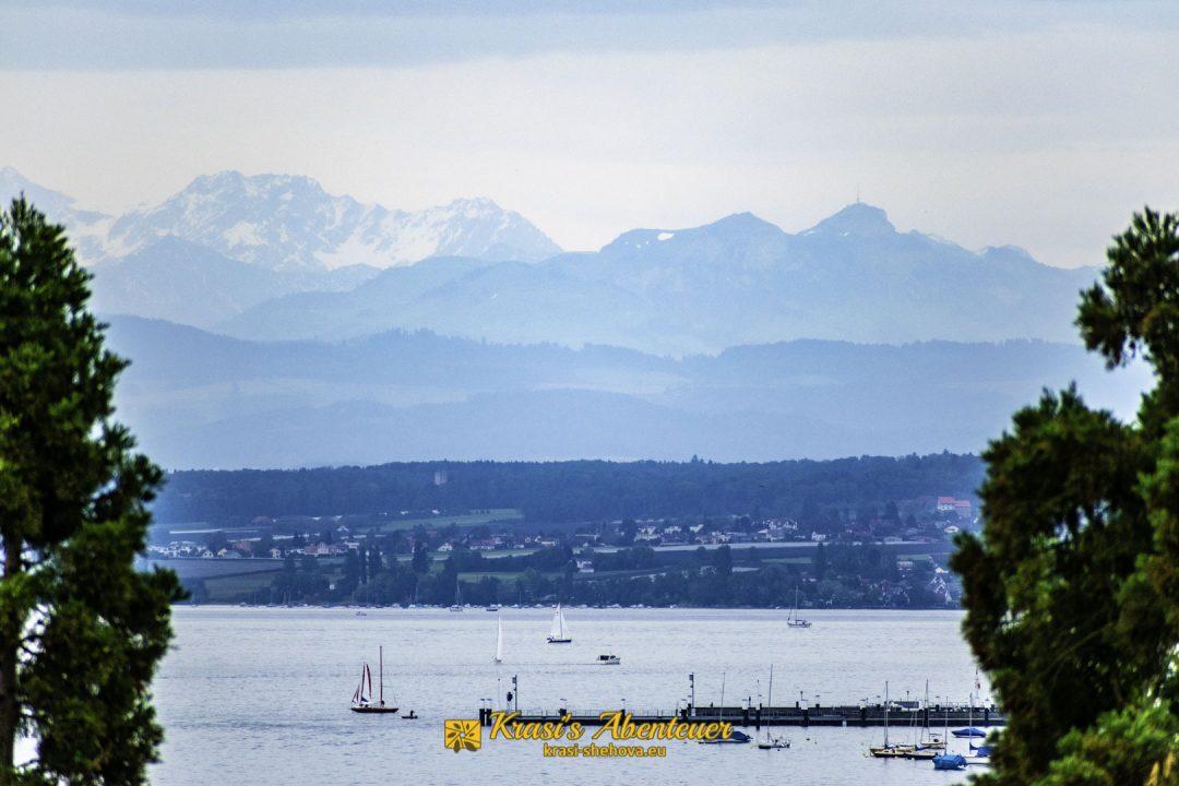 Изглед от остров Майнау към Бодензее