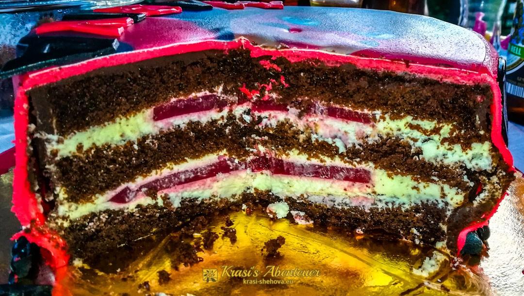 Die geschnittene Torte